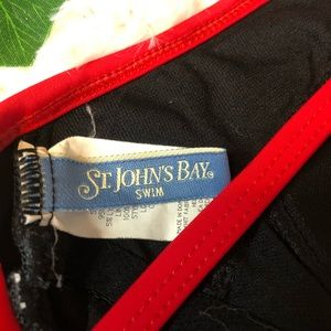St. John's Bay Swim - St John's Bay Swim Black Red Swim Suit One Piece